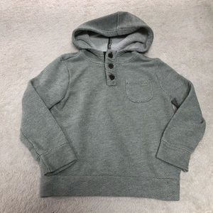 Old Navy boys hooded sweater Henley size 5T